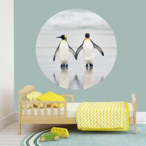 Behangcirkel Pinguïn stel