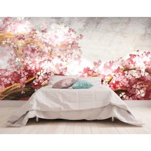 Vlies fotobehang Sakura blossom