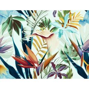 Vlies fotobehang Tropische bloemen