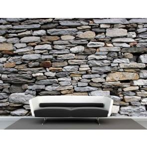 Vlies fotobehang stenenmuur Schotland