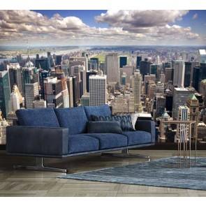 Helicopterview van Manhattan